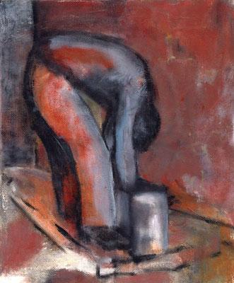 Jérémie en travailleur - 46 x 55 - Acrylique sur toile - 1996