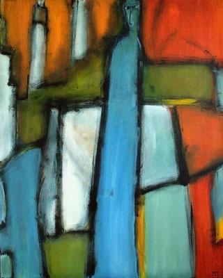 Dans un jeu de quille - 80 x 100 - Acrylique sur toile - 2005