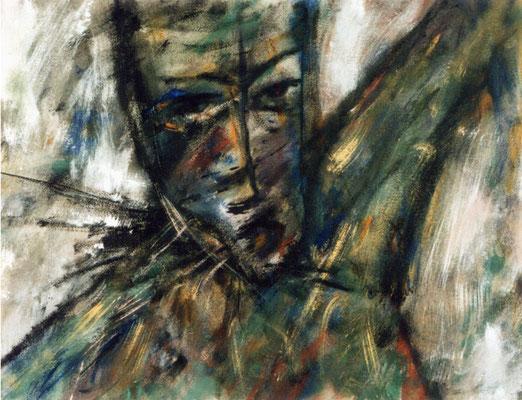 Trilogie bavaroise 1 - 65 x 50 - Acrylique sur papier - 1988