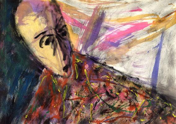 Sans titre - 42 x 30 - Mixte sur papier - 1988