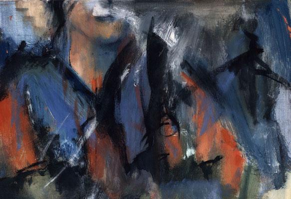 Sans titre - 73 x 50 - Acrylique sur toile - 1995