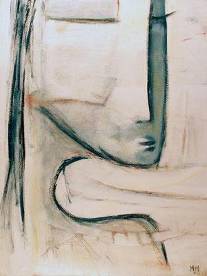 Made in China - Retour d'Asie - Elle - 60 x 80 - Acrylique sur toile - 2006