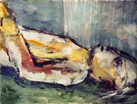 Le gisant - 60 x 46 - Acrylique sur toile - 2001