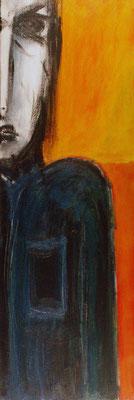 Autoportrait en excentrique - 30 x 90 - Acrylique sur toile - 2006