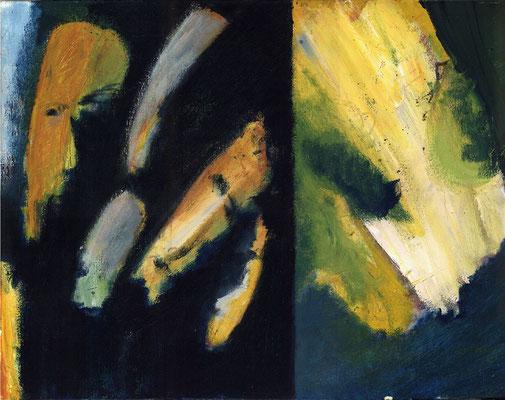 Sans titre - 65 x 50 - Acrylique sur toile - 1996