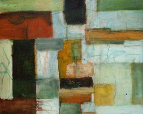 Totems - 100 x 80 - Acrylique sur toile - 2005