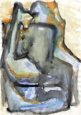 Sans titre - 21 x 29 - Aquarelle sur papier - 1987