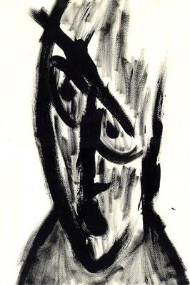 Sans titre - 21 x 29 - Gouache sur papier - 1990