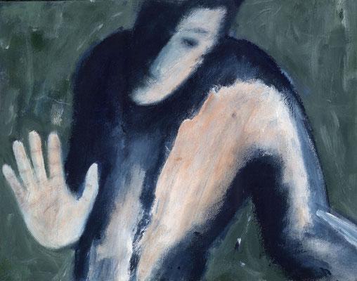 Non, merci ! - 65 x 55 - Acrylique sur toile - 1996