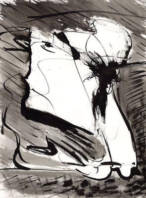 Sans titre - 24 x 32 - Encre sur papier - 2001