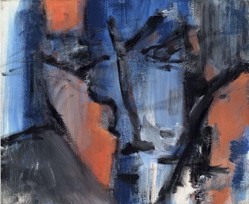 Sans titre - 55 x 46 - Acrylique sur toile - 1993
