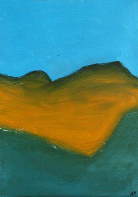 Attentat à Dahab - 33 x 46 - Acrylique sur toile - 2005