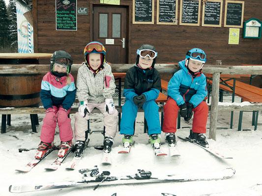 Auch die kleinen Skifahrer sind begeistert