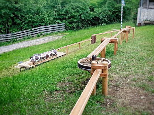 Die neu erbaute Kugelbahn am Wenger Stadl