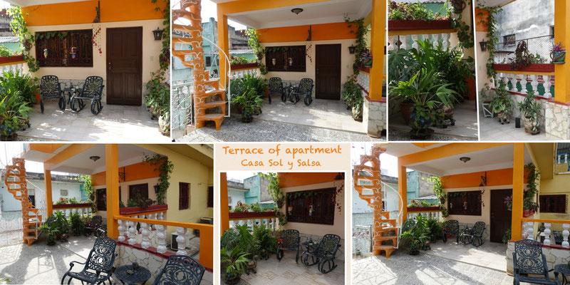 Terrace of apartment of Casa Sol y Salsa