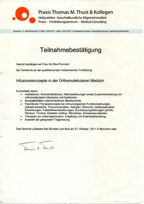 Infusionskonzepte in der orthomolekularen Medizin