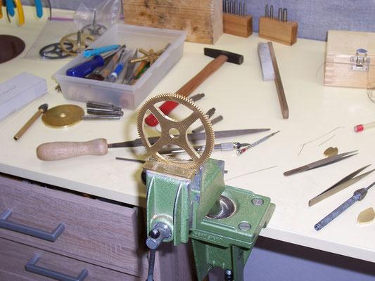 Zahnräder von Hand ausarbeiten (schenkeln)