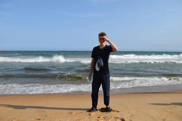 Der Blogschreiber am Strand von Lomé