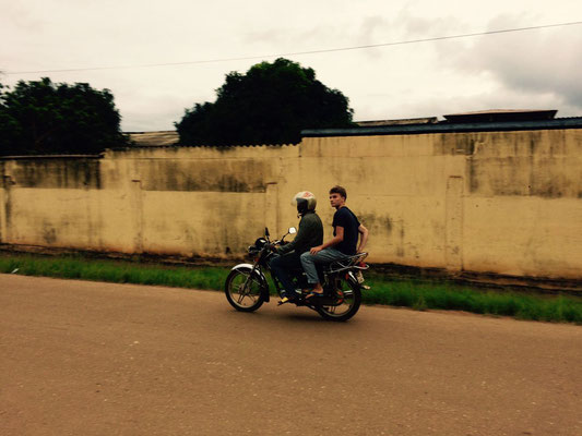 Auf einem Mototaxi in Kpalimé