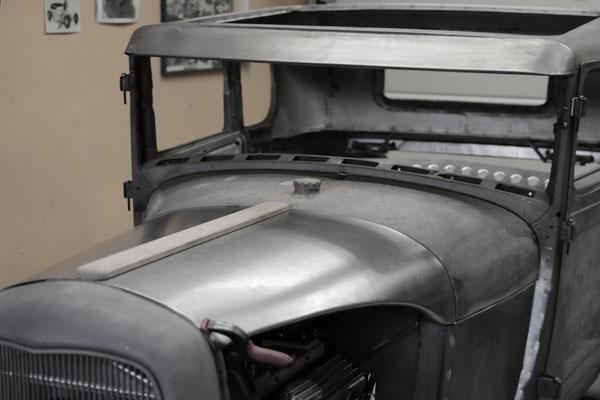 Hot Rod Ford Model  A Aluminium Karosserieteile handgefertigt Blechklopfer Feinblechner W. Schröder Motorhaube