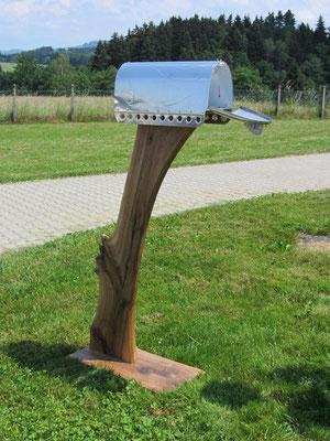 Briefkasten Mailbox Flammenprägung Aluminium Blechkraft Blechklopfer Feinblechner W. Schröder Handwerkskunst