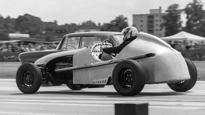 Silberpfeil Rennwagen Eigenbau Aluminium Karosserie Blechklopfer W. Schröder Feinblechner Oldtimer Motorräder 1/4 Mile Race@Airport