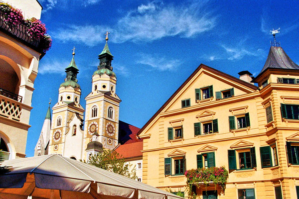View of Brixen's Dome in South Tyrol, Italy
