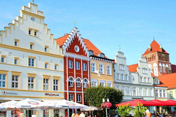 Historic city center of Greifswald, Germany