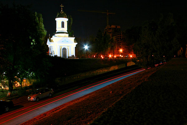View on the Church of St. Nicholas in Mykolaiv, Ukraine