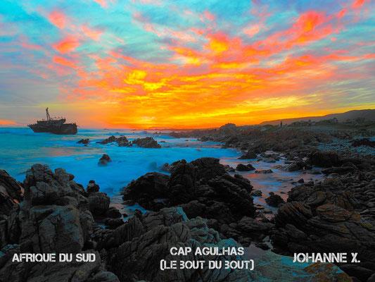 coucher de soleil cap agulhas afrique du sud