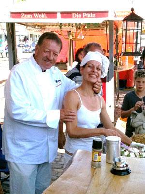 backen und kochen mit dem TV Koch Thies Möller auf den Matjestagen in Husum