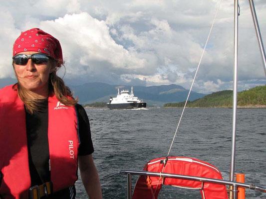 Segeln im Fjord