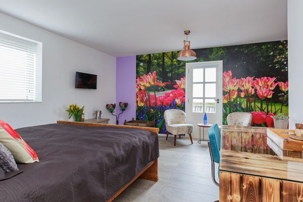 Our B&B is surrounded by flower fields