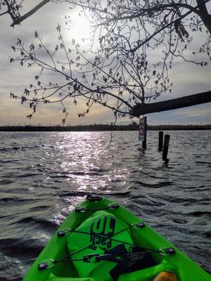 Kayak vers l'île de kaag