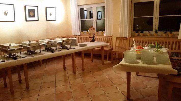 Abendessen-Buffet