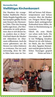 Neckarsulmer Woche, 22. März 2018
