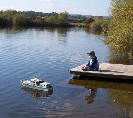 Schiffsmodellidyll an unserem Vereinsgelände