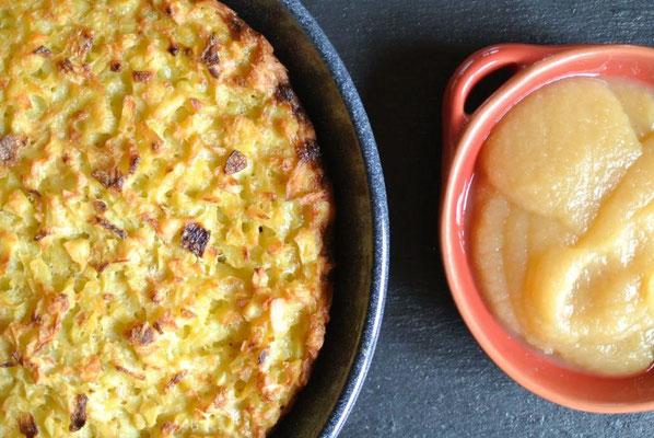 Kartoffelpuffer aus dem Ofen