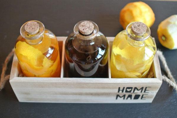Orangenextrakt und Zitronenextrakt selber machen ohne künstliche Aromastoffe
