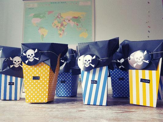 Piraten-Mitgebsel-Tüten für den Kindergeburtstag