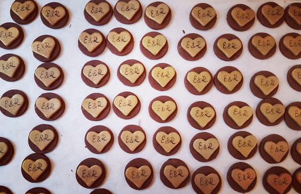 Kekse für die goldene Hochzeit