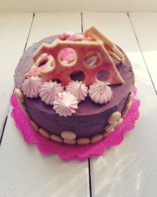 Schoko Baiser Mürbteigkuchen