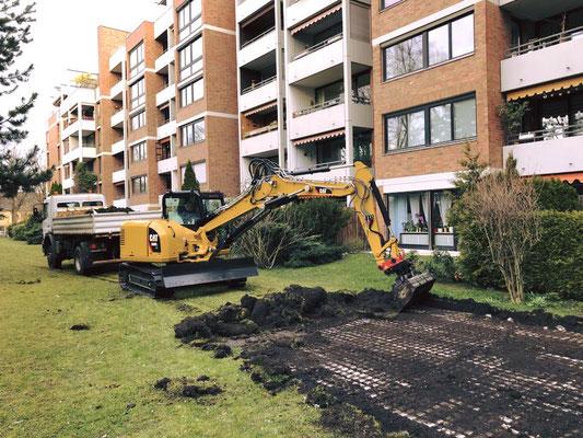 Arbeiten im Löschpark, Augsburg