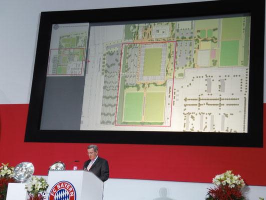 Das neue Trainingszentrum wird vorgestellt