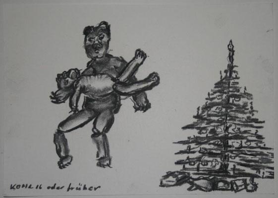 Pieta vorm Christbaum