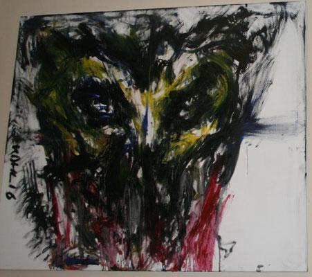Neu und neugierig, Öl auf Leinwand, 150x135cm