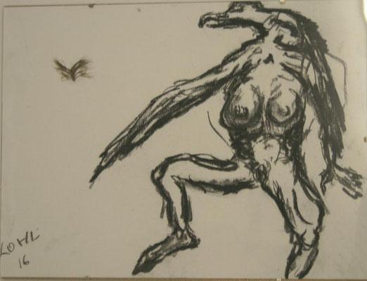 Frauenvogelflugbetrachtung