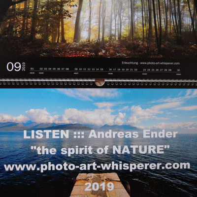 "Kalender 2019: ""the spirit of NATURE"" - Format A3 