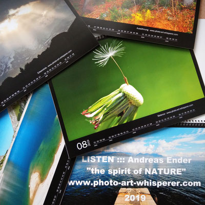 """Kalender 2019: """"the spirit of NATURE"""" - Format A3 