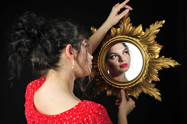 Foto: Andreas Ender, photo-art+painting | Titel: mirror, mirror - I love me!